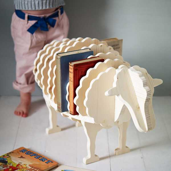 sheep bookshelf children