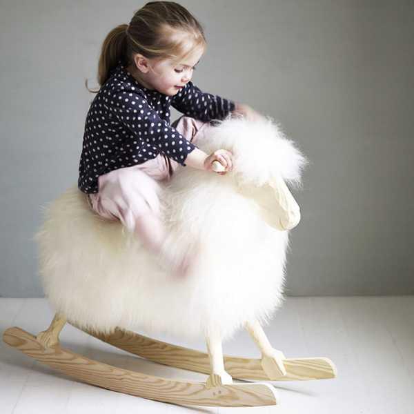 children's rocker sheep