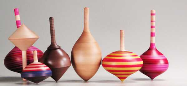 Simply beautiful wooden spinning tops