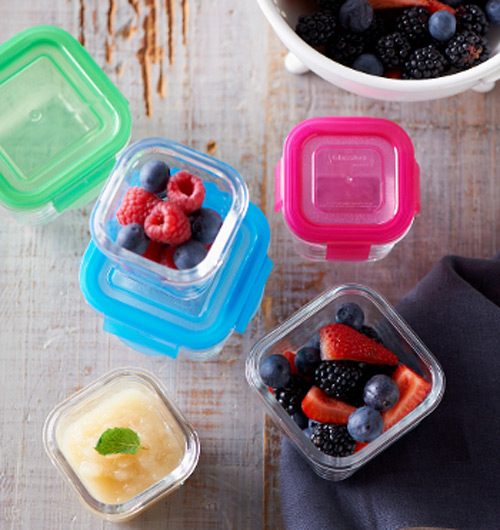 littlelock glass baby food containers lock freshness in. Black Bedroom Furniture Sets. Home Design Ideas