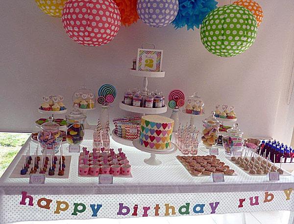 rainbow colour birthday
