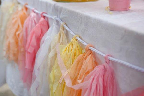 stylish pastel tassel party decoration