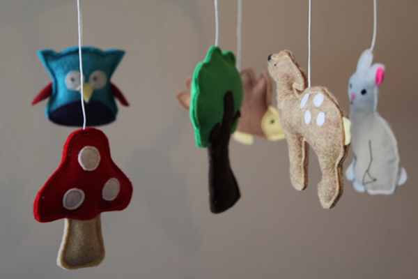 baby mobile, handcrafted, homemade