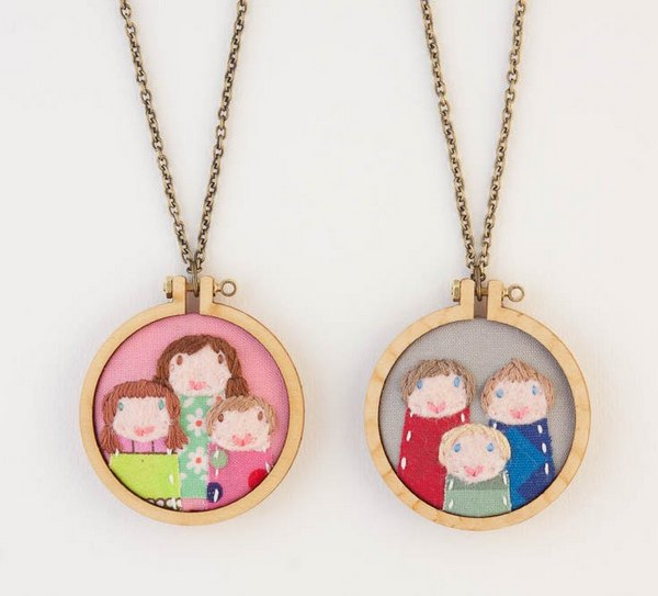 dandelyne 7 Teeny tiny embroidered portraits by Dandelyne