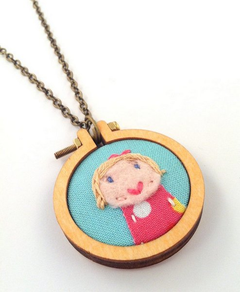 dandelyne 8 Teeny tiny embroidered portraits by Dandelyne