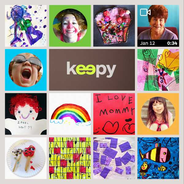 keepy Keepy   an app to store and share your childrens artwork