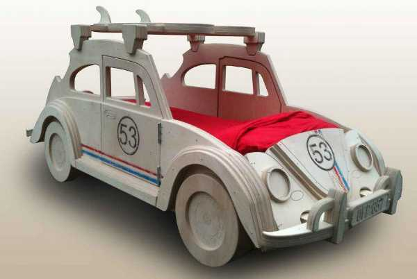 kids childrens beds, VW racing beetle bed