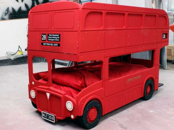 kids childrens beds, London double decker bus bunk