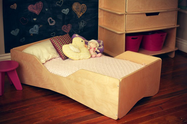 aero toddlerbed nt ls Sodura Aero contemporary bedroom furniture for toddlers