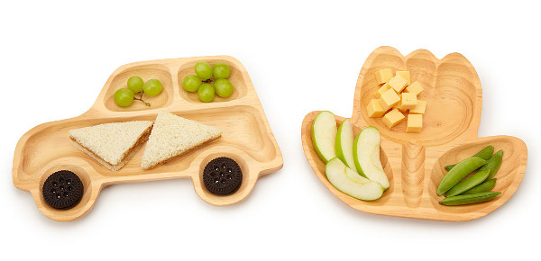 Wooden plates Uncommon Goods, car shaped kids plate