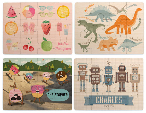 Personalised puzzles from Tinyme