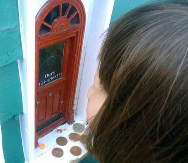I spy a fairy door for White fairy door