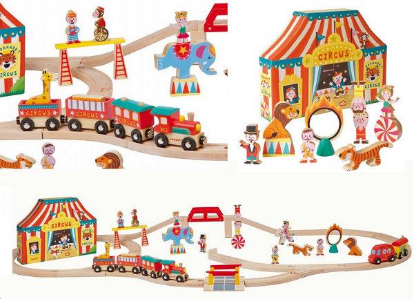 Janod Story Express Circus train