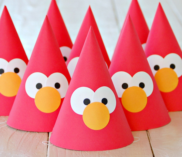 elmo-party-hats
