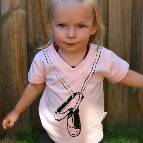 Young and Moodie t-shirts, ballet tee