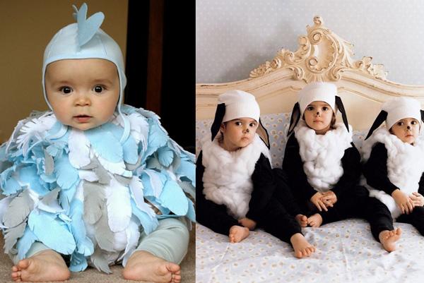 Halloween-farmyard-web, diy baby chicken and sheep costume