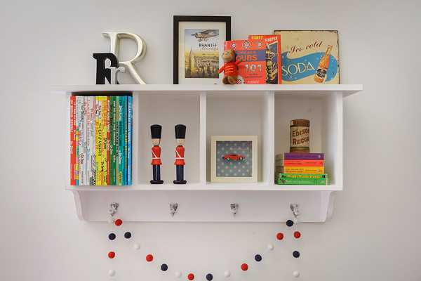 willow, stylish children's bedroom shelving