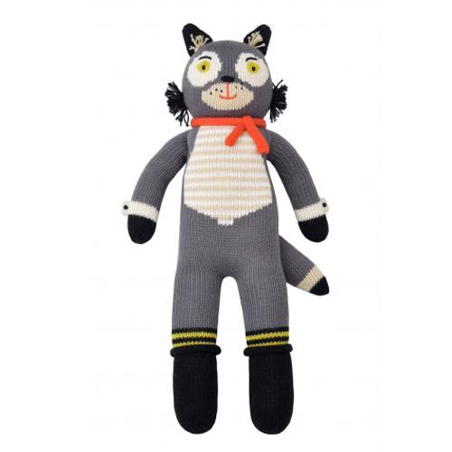 Blabla knitted dolls Beauregard the Wolf unique gifts