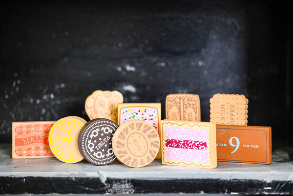 Make Me iconic, wooden biscuits, Arnott's Tim Tam Teddy Bear Biscuit