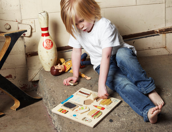 wooden munchie food jigsaw puzzle, classic Australian foods