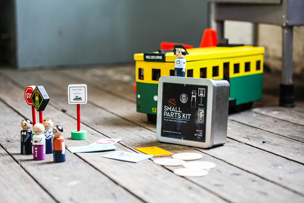 small parts kit for toy tram and Sydney ferry