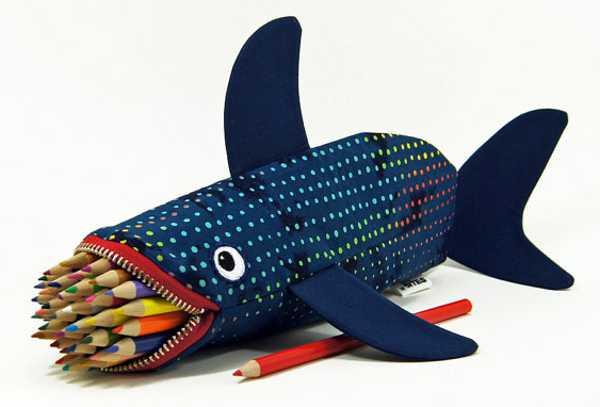 Minnie shark pencil case