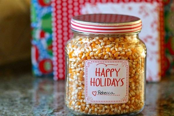Popcorn christmas gift