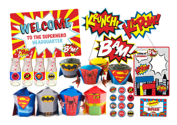 The Quirky Quail superhero party printables