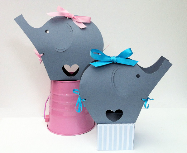 My Paper Planet Elephant gift boxes Etsy