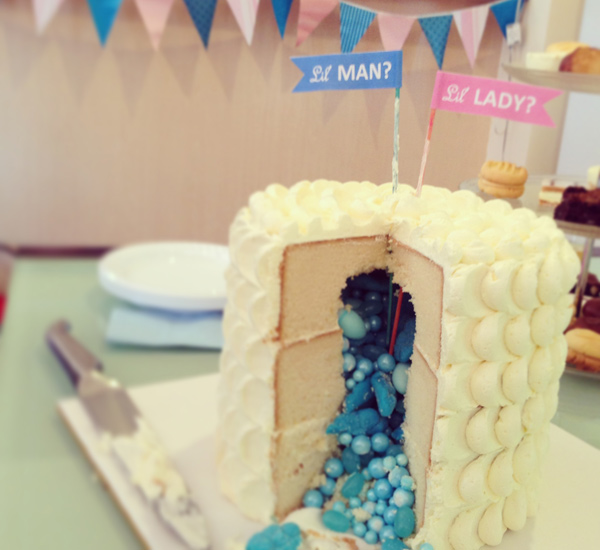 show us your party a gender reveal baby shower