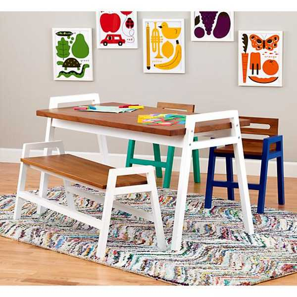 stylish children s tables and chairs from the land of nod
