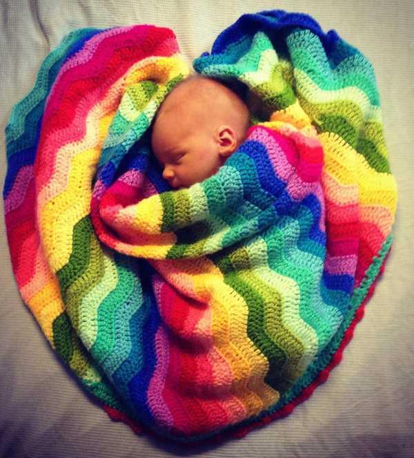 rippleblanket Beautiful crocheted baby Ripple Blankets