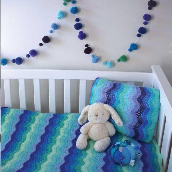 ripplesky Beautiful crocheted baby Ripple Blankets