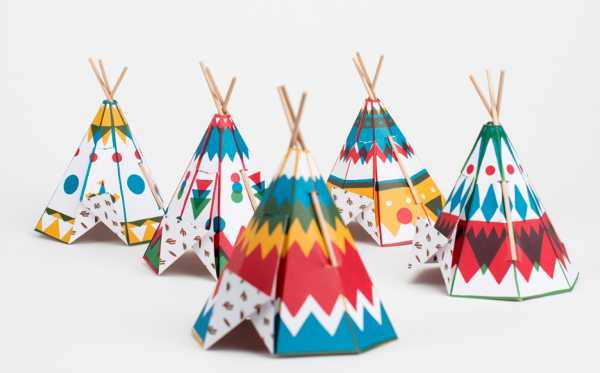 teepee craft template - fancy folding mini teepees for kids from france