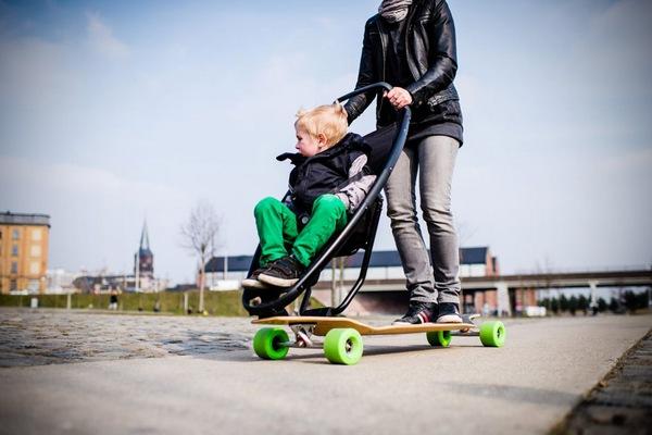 Quinny Jett Longboard Stroller 1 Quinny Longboard Stroller turns the stroller into a skateboarding adventure