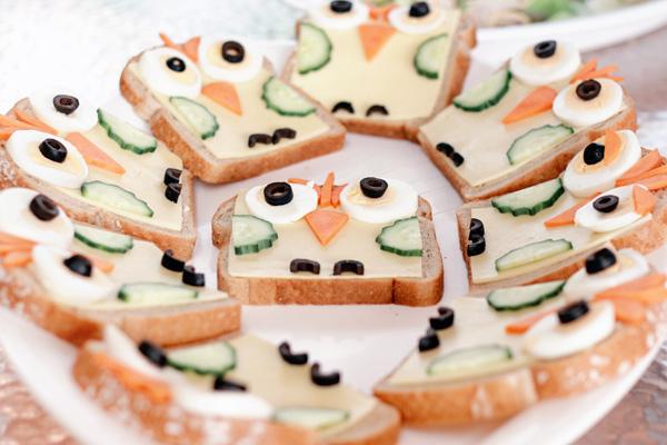 zoo-party-3, owl sandwich