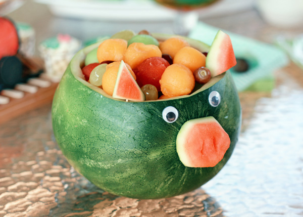 fruit salad pig