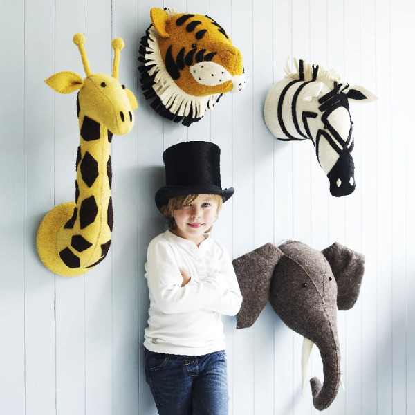 The Kid Friendly Way To Decorate With Safari Animal Heads