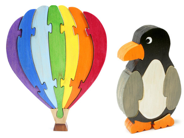 Berkshire Bowls wooden puzzles Etsy, hot air balloon puzzle, penguin jigsaw puzzle