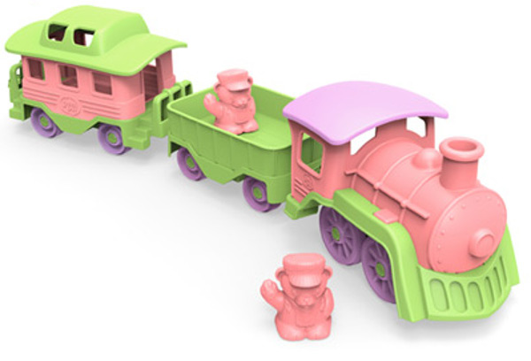 green-toys-train-pink-detail
