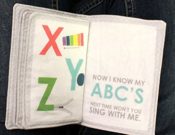 handmade fabric ABC book
