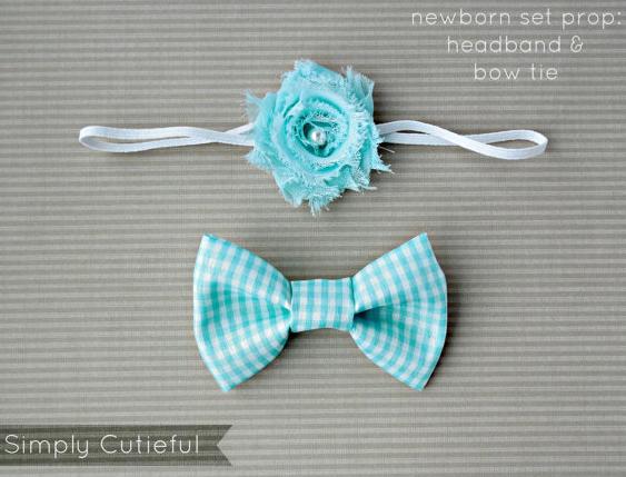 bow tie and headband