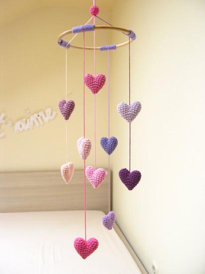 Cherry Time etsy amigurumi nursery mobile crochet