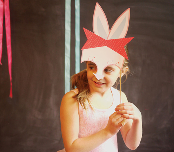 easter photo booth props, stylish easter craft ideas for kids
