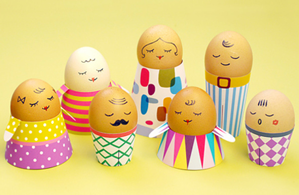 stylish easter craft ideas for kids, egg heads