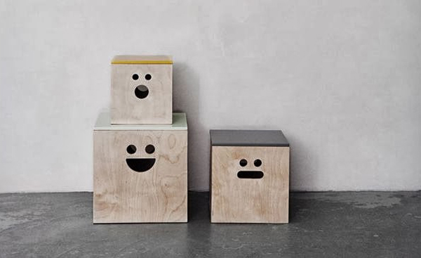 store it with a smile in a storage box from ferm living. Black Bedroom Furniture Sets. Home Design Ideas
