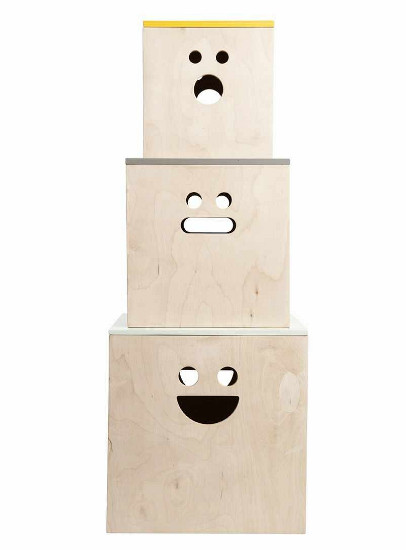 Ferm Living face plywood boxes