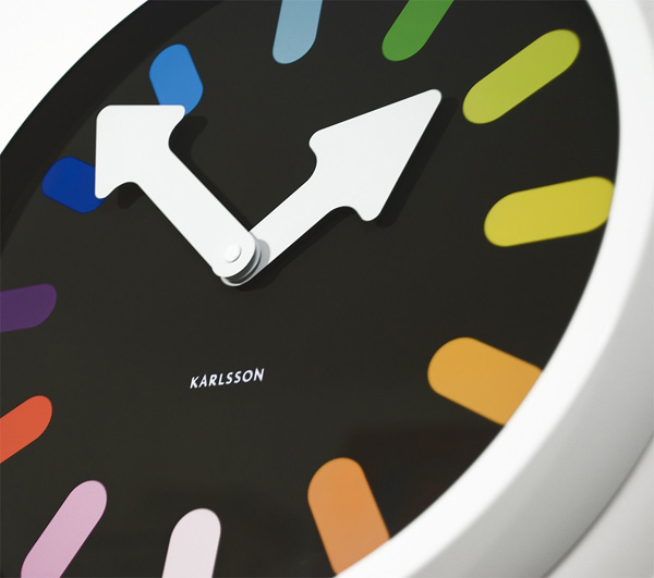 Pictogram Rainbow Clock Lunch Is At Green O Clock