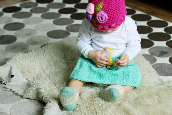 Knitted skirt and hat