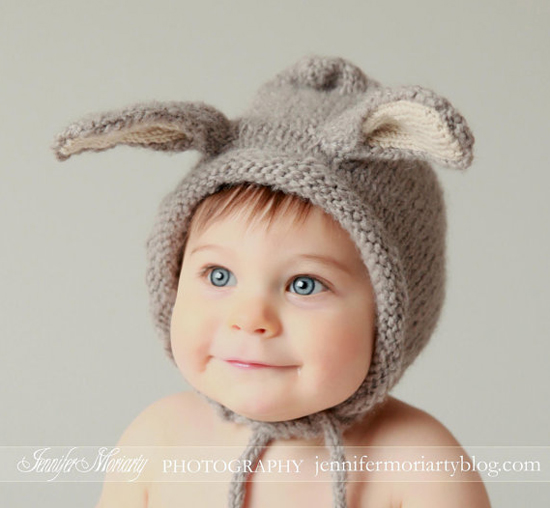 knitted bunny hat 2